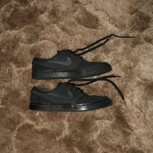 Nike Stefan janoski all black leather skate shoes